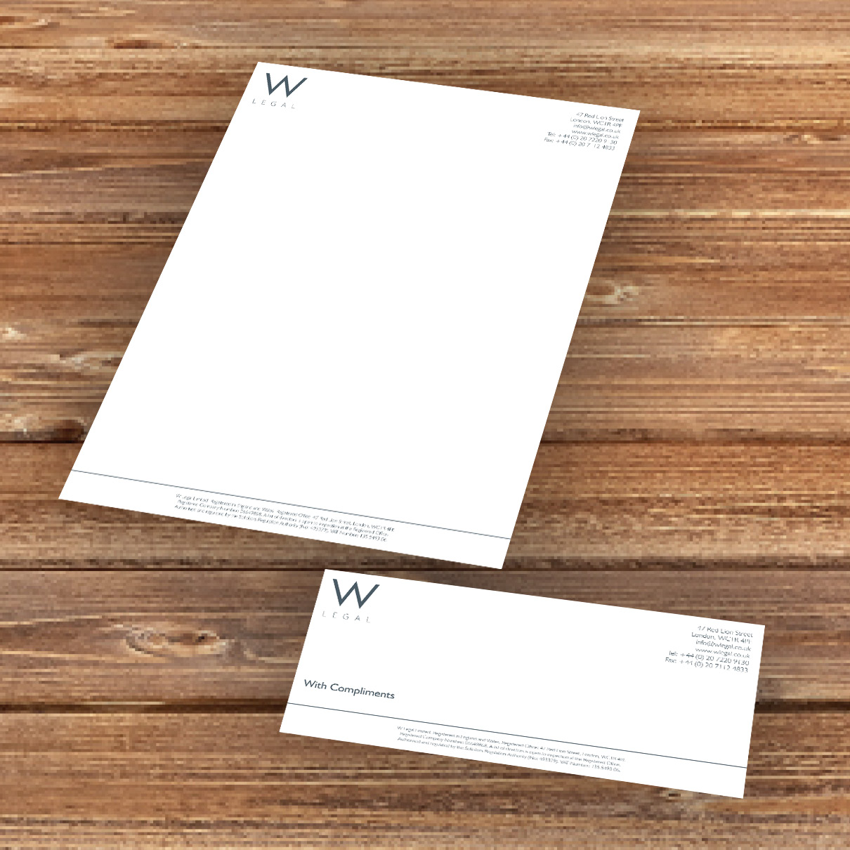 W Legal Letterhead CompSlip